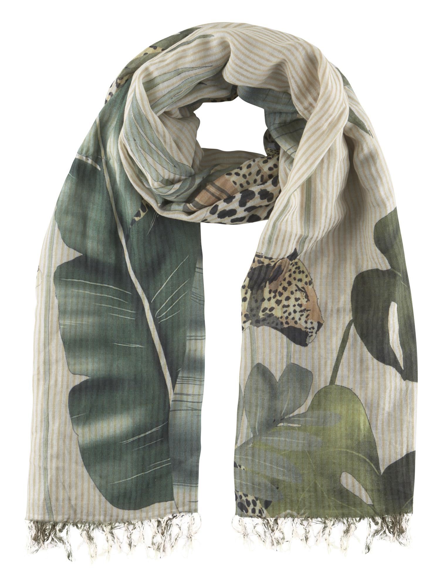schal und rauch - Tuch mit Leopard mit Leopard
