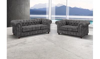 Premium collection by Home affaire Sitzgruppe »Chesterfield«, (2 tlg.), Bestehend aus... kaufen