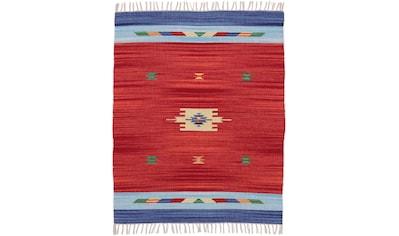 carpetfine Teppich »Kelim Amal«, rechteckig, 5 mm Höhe, Flachgewebe, Wendeteppich,... kaufen