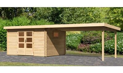 WOODFeeling Gartenhaus »Trittau 4«, mit Anbaudach kaufen