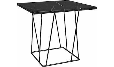 TemaHome Beistelltisch »Helix«, mit einer schönen Marmortischplatte und einem schwarzen Metallgestell kaufen