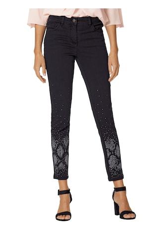 Amy Vermont Jeans mit Strasssteindekoration im Vorderteil kaufen
