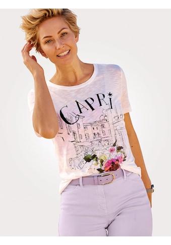 Mona Kurzarmshirt, mit charmantem Druck kaufen