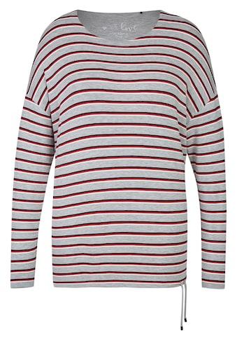 VIA APPIA DUE Süßes Sweatshirt mit Ringel - Muster Plus Size kaufen