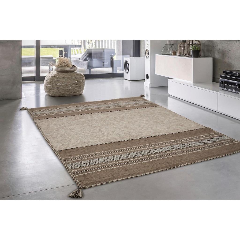 calo-deluxe Teppich »Melody 325«, rechteckig, 8 mm Höhe, reine Baumwolle, Wohnzimmer
