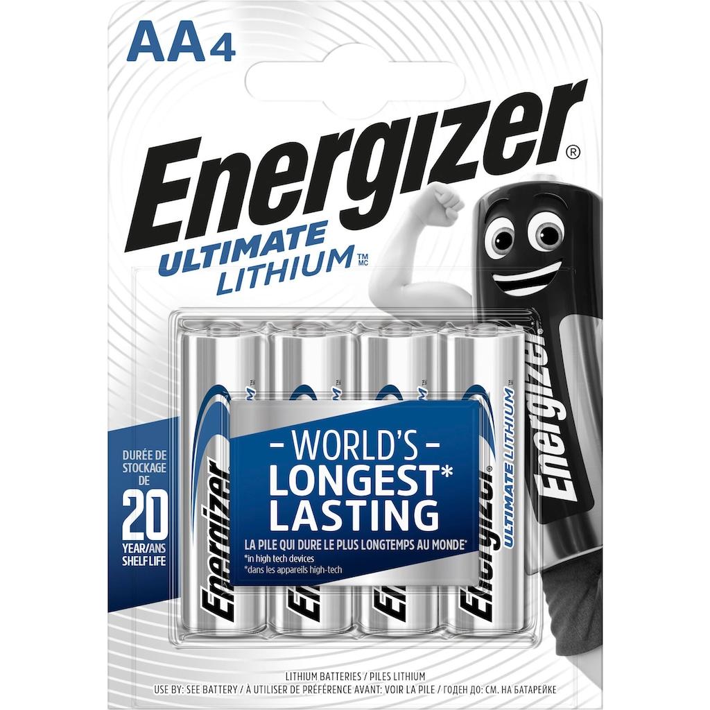 Energizer Batterie »Ultimate Lithium Mignon (AA) 4 Stück«, (4 St.)