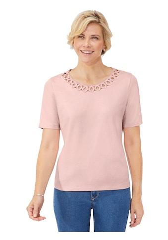 Classic Shirt mit femininem Lochmuster kaufen