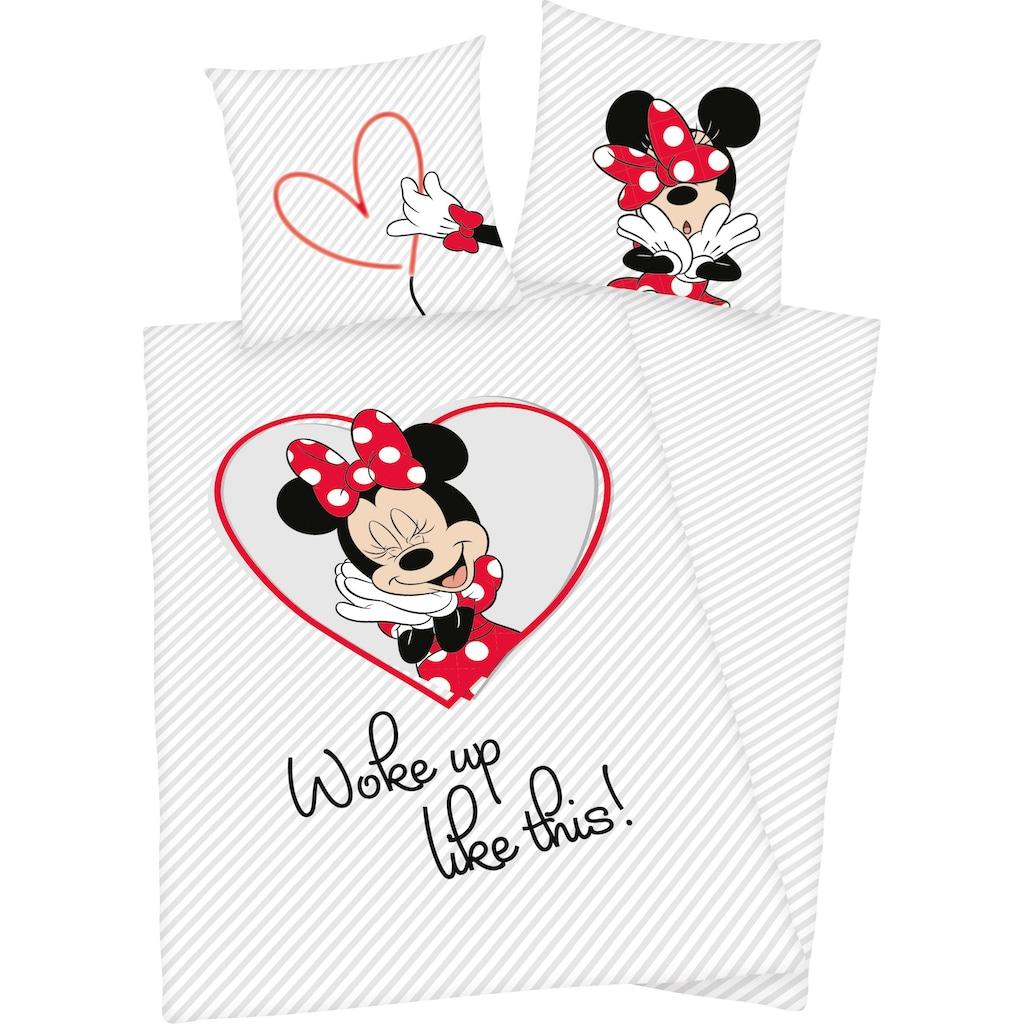 Walt Disney Kinderbettwäsche »Minnie Mouse«, mit tollem Wendemotiv