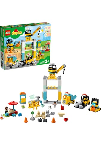 """LEGO® Konstruktionsspielsteine """"Große Baustelle mit Licht und Ton (10933), LEGO® DUPLO® Town"""", Kunststoff, (123 - tlg.) kaufen"""