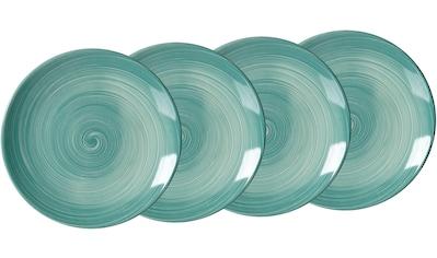 Ritzenhoff & Breker Kuchenteller »Julia«, (Set, 4 St., 4 Kuchenteller, je 21,5 cm Durchmesser), mit Spiral-Dekor, Ø 21,5 cm kaufen