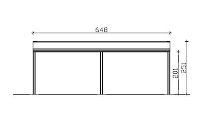 Skanholz Terrassendach »Monza«, BxT: 648x257 kaufen