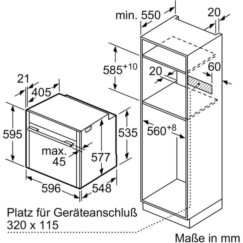 NEFF Backofen-Set »XB46TWIST«