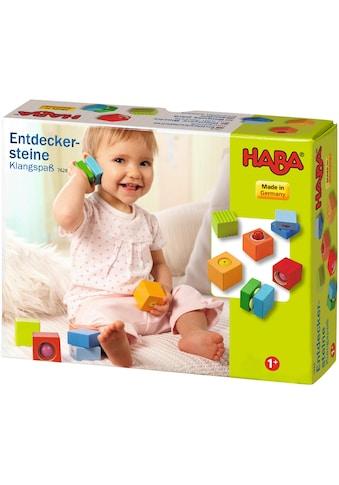 Haba Spielbausteine »Entdeckersteine Klangspaß«, (6 St.), mit Soundeffekt, Made in... kaufen