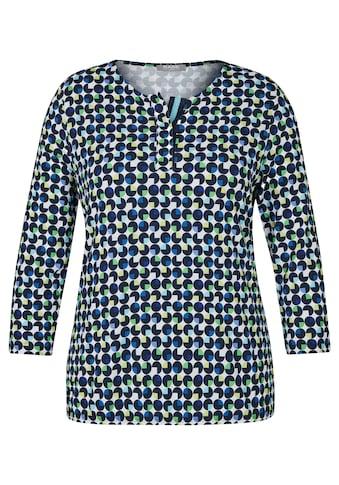 Rabe Shirt mit geometrischem Muster und Rundhalsausschnitt kaufen