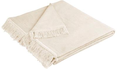 BIEDERLACK Sesselschoner »Cotton Cover«, mit Fransen kaufen