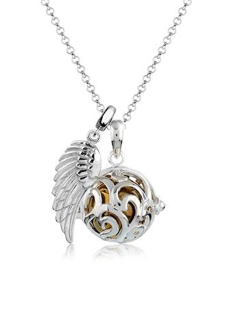 Nenalina Kette mit Anhänger »Engelsflüsterer (17 mm) Flügel Ornament 925 Silber« kaufen