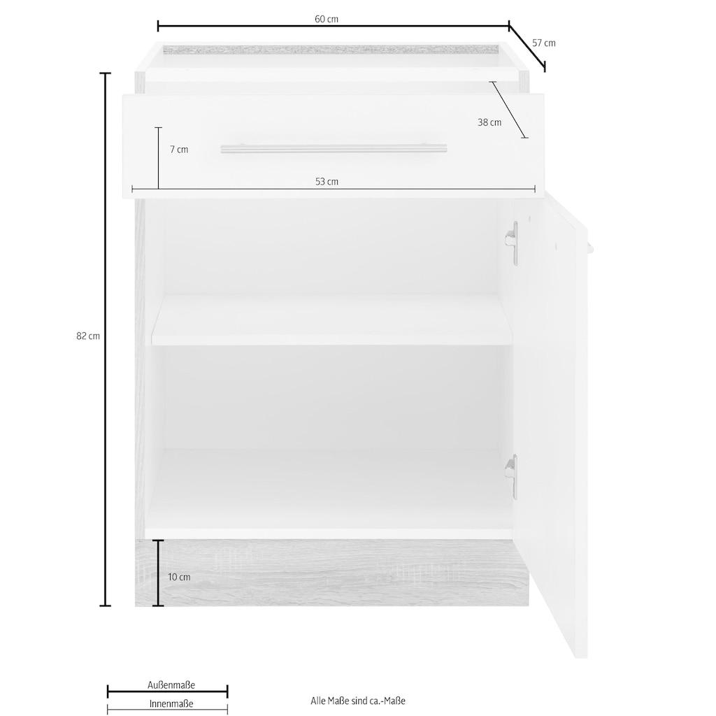 wiho Küchen Unterschrank »Flexi2«, Breite 60 cm