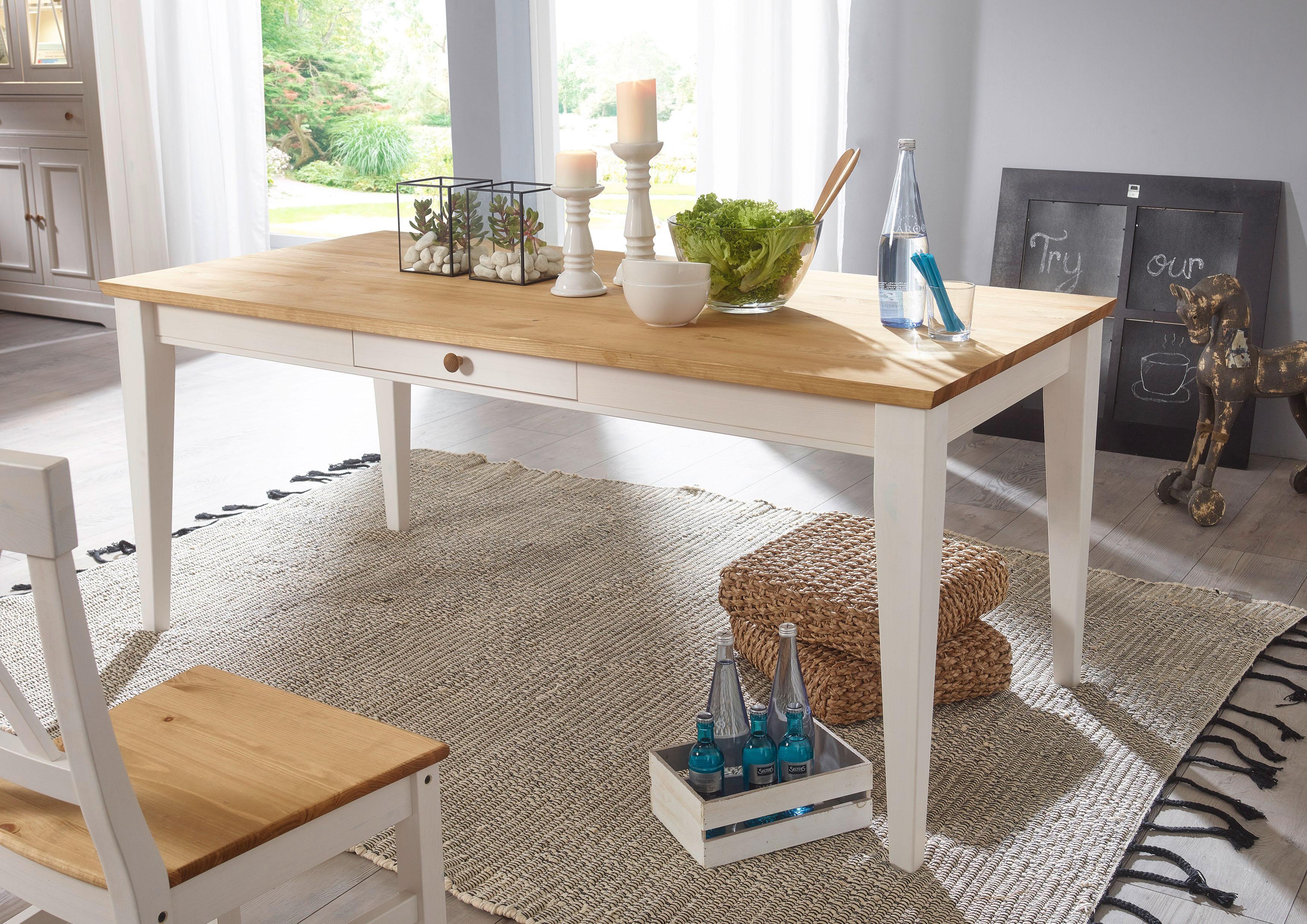 Premium collection by Home affaire Esstisch Marissa, Landhaus-Design pur weiß Holz-Esstische Holztische Tische
