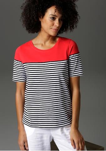 Aniston CASUAL T-Shirt, im Marine-Look kaufen
