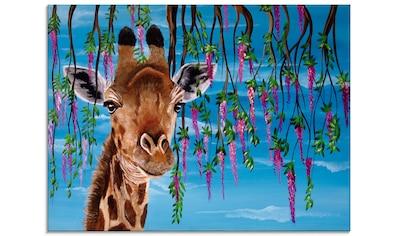 Artland Glasbild »Giraffe«, Wildtiere, (1 St.) kaufen