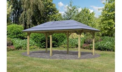 Karibu Pavillon »Bergen 2«, (Set), BxTxH: 592x338x290 cm, mit H-Pfostenanker kaufen