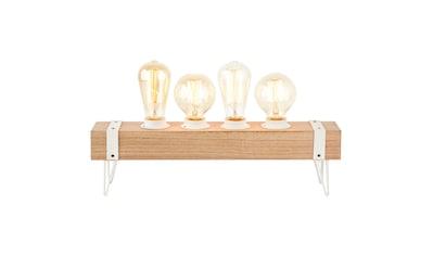 Brilliant Leuchten White Wood Tischleuchte 4flg beton/holz hellweiß kaufen