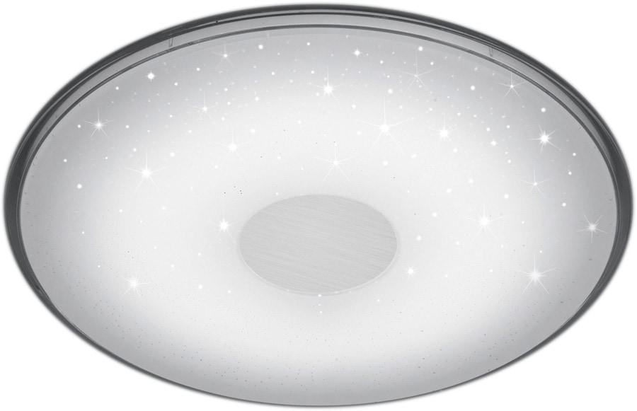 TRIO Leuchten LED Deckenleuchte Shogun, LED-Board, Neutralweiß-Tageslichtweiß-Warmweiß-Kaltweiß, Fernbedienung,integrierter Dimmer,Lichtfarbe stufenlos einstellbar,Nachtlicht,Memory Funktion