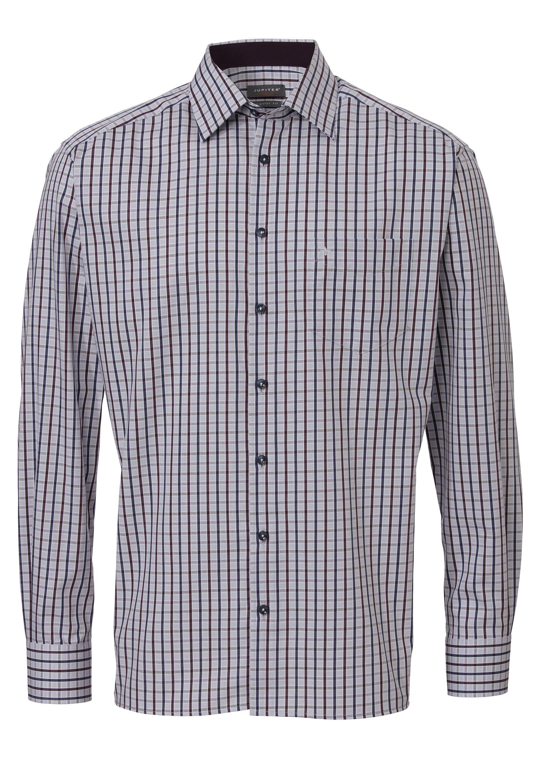 Jupiter Modisches Herrenhemd | Bekleidung > Hemden > Sonstige Hemden | Rot | Baumwolle - Jeans | JUPITER