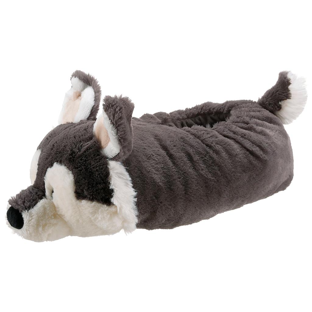 Nici Plüsch Hausschuhe »Husky Swante«