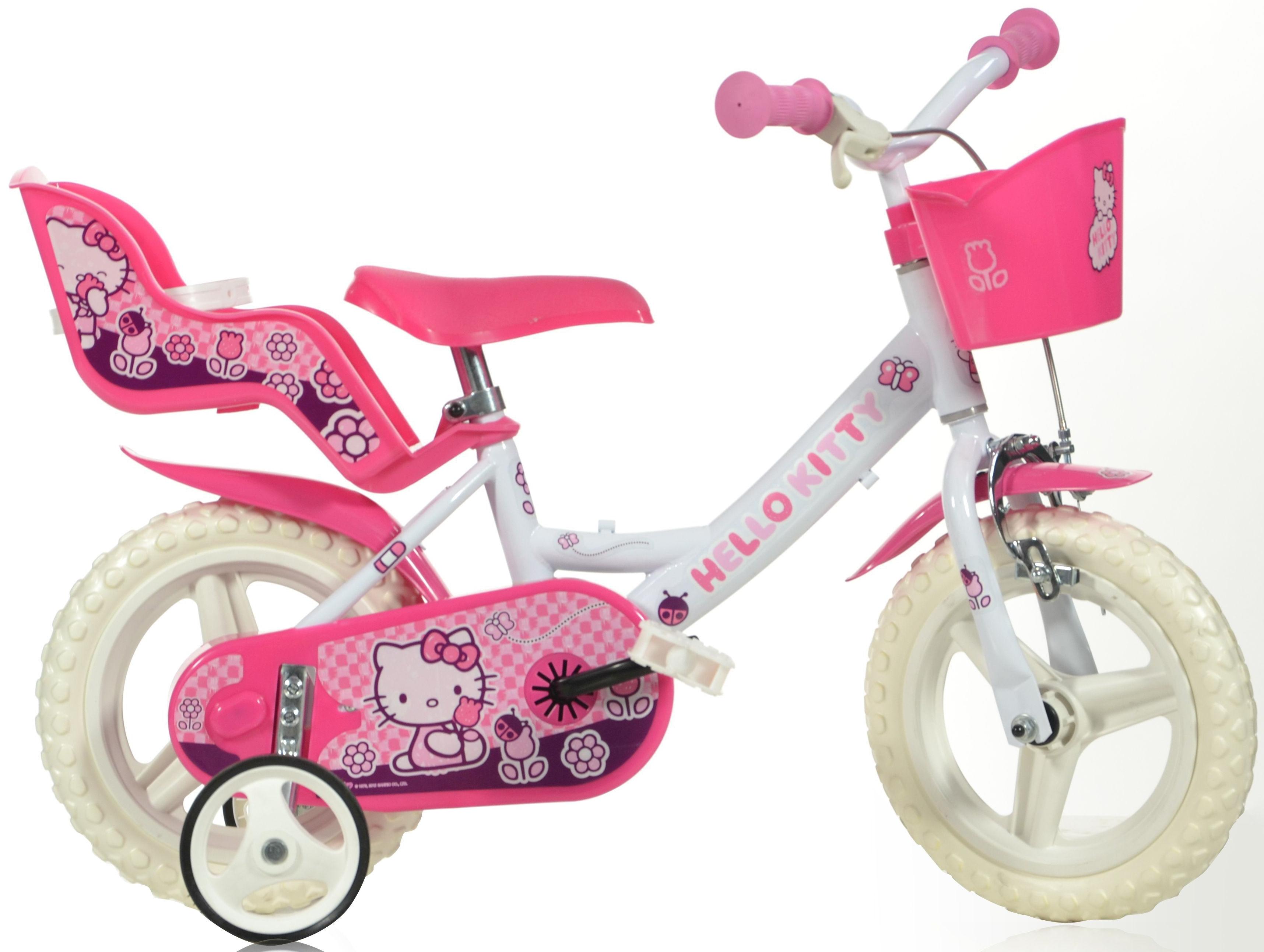Hello Kitty Kinderfahrrad Kitty, mit Lenkerkorb + Puppensitz rosa Kinder Kinderfahrräder Fahrräder Zubehör