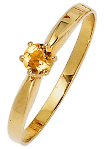 JOBO Goldring, 585 Gold mit Citrin kaufen