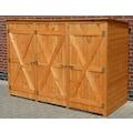 promadino Mülltonnenbox, für 3x240 l aus Holz, BxTxH: 250x101x161 cm