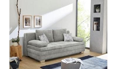 Jockenhöfer Gruppe Schlafsofa, mit Bettfunktion und Bettkasten, als Dauerschläfer geeignet, mit hervorragendem Sitz- und Liegekomfort, mit fest vernähtem Kaltschaumtopper, frei im Raum stellbar kaufen