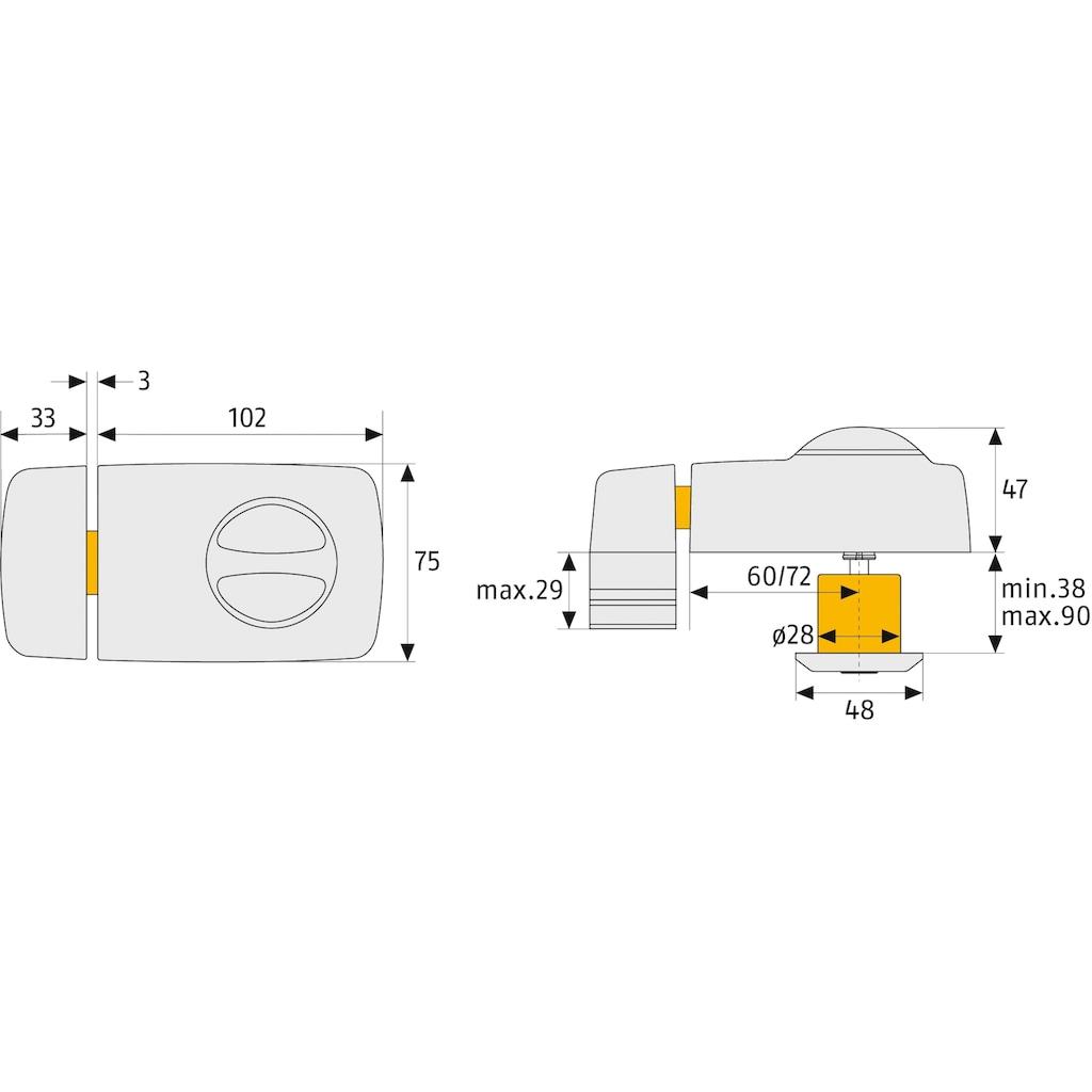 ABUS Türbandseitensicherung »Door Lock 7010 W B/DFNLI«, Verriegelung innen mit Drehknauf, außen mit Schlüssel