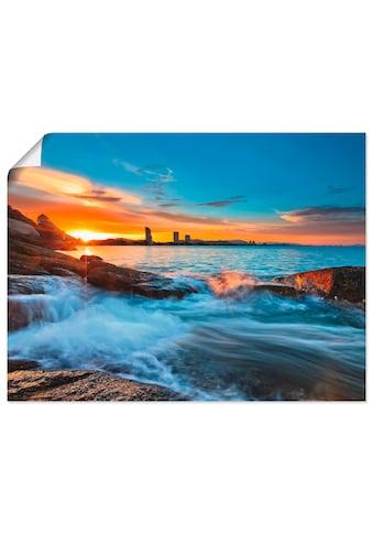 Artland Wandbild »Sonnenuntergangszeit am Hua-Hin Strand«, Gewässer, (1 St.), in... kaufen