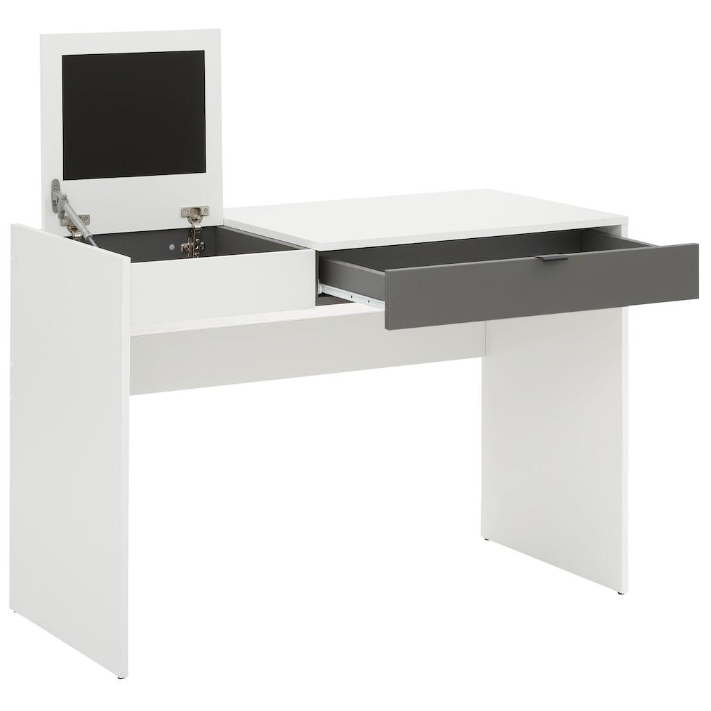 my home Schreibtisch »Smart«, mit einer praktischen Magnettafel, eine großen Arbeitsplattenfläche, einem Schubkasten für Stauraummöglichkeiten, Breite 110 cm