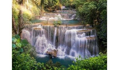 PAPERMOON Fototapete »Huay Mae Khamin Waterfall«, Vlies, in verschiedenen Größen kaufen