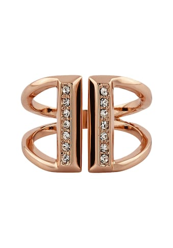 Buckley London Ring rosévergoldet mit Kristallen kaufen