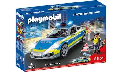 Playmobil® Konstruktions-Spielset »Porsche 911 Carrera 4S Polizei (70067), City Action«, Made in Germany kaufen