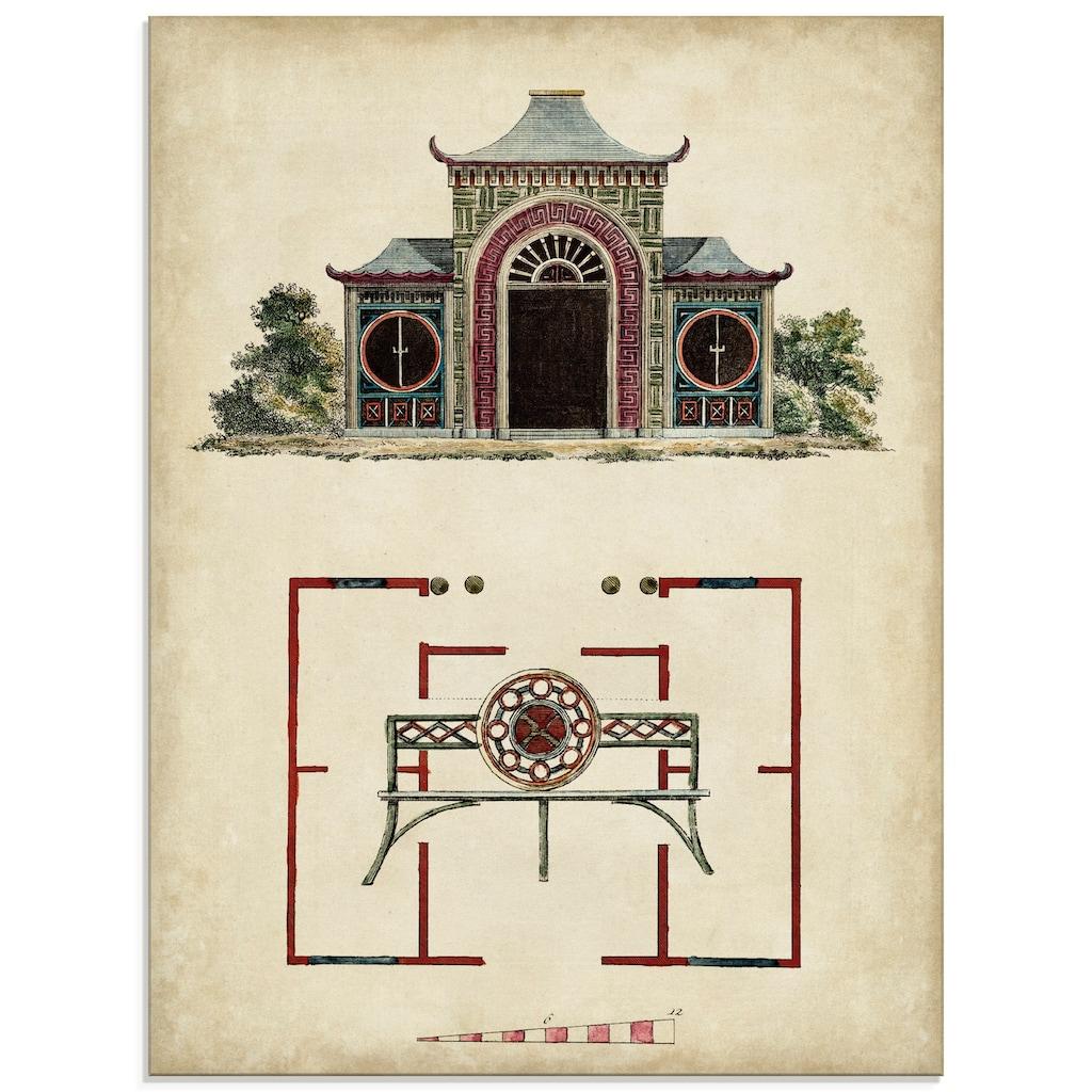Artland Glasbild »Gartentore IV«, Architektonische Elemente, (1 St.)