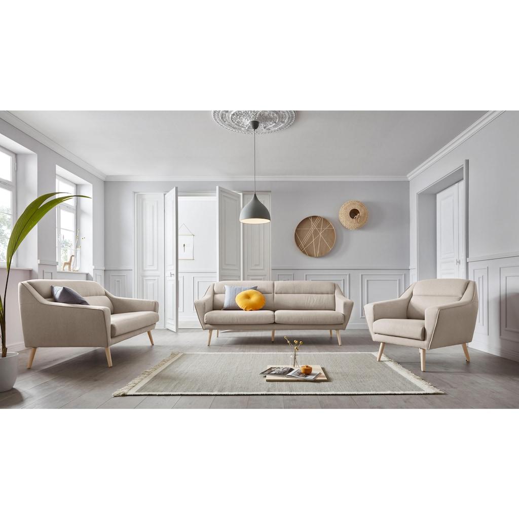 andas Sessel »Bille«, mit Naht im Rückenkissen und Eiche-Beinen, Design by Morten Georgsen