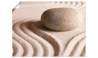 Artland Wandbild »Zen Stein«, Zen, (1 St.) kaufen