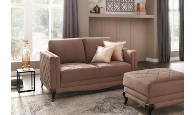 DELAVITA 2-Sitzer, Federkern, hohe Holzfüße in edler Optik, Karosteppung kaufen