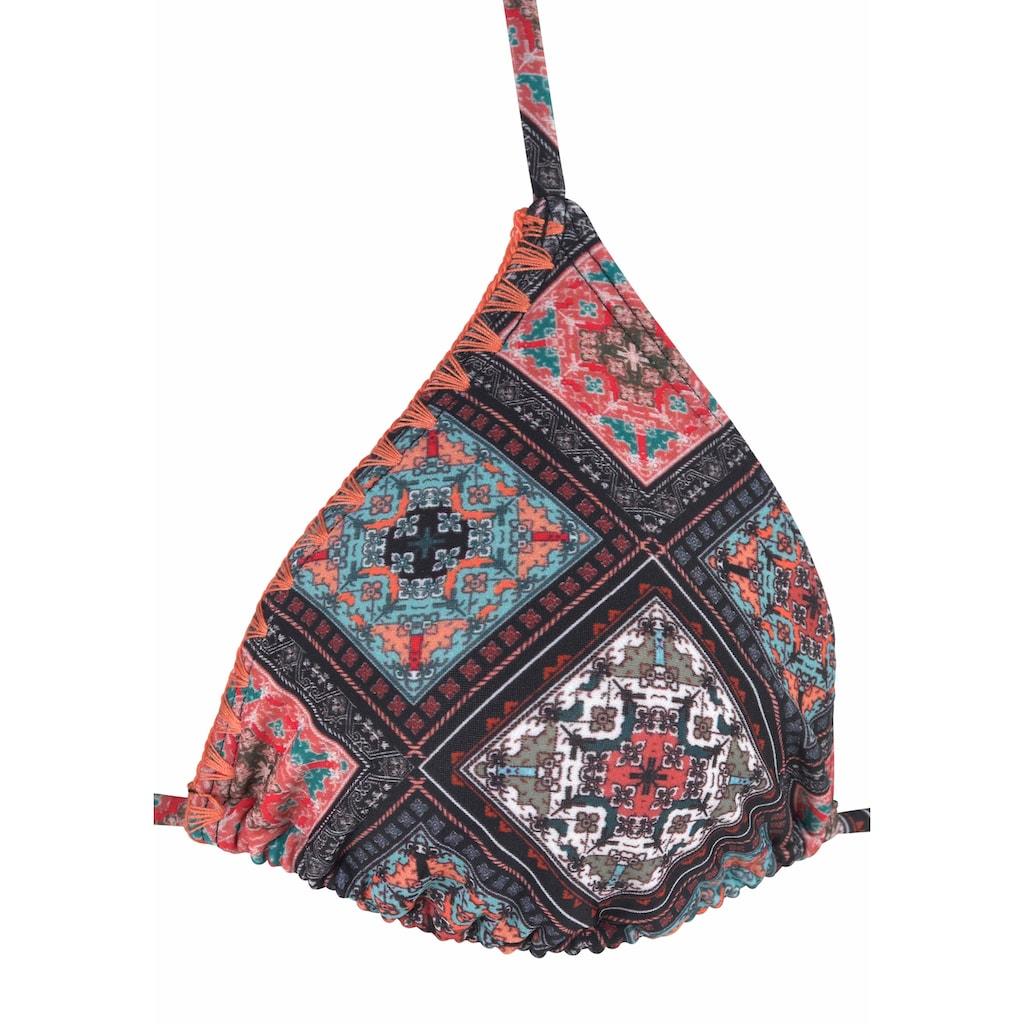 Buffalo Triangel-Bikini, mit Häkelkante in Kontrastfarbe