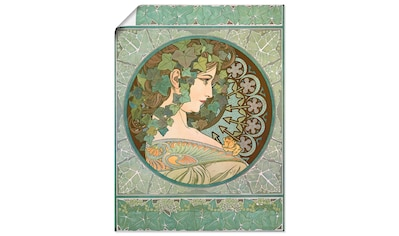 Artland Wandbild »Efeu, 1901«, Frau, (1 St.), in vielen Größen & Produktarten... kaufen