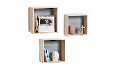 """Zeller Present Regalwürfel """"Cubes"""" (Set 3 Teile) kaufen"""