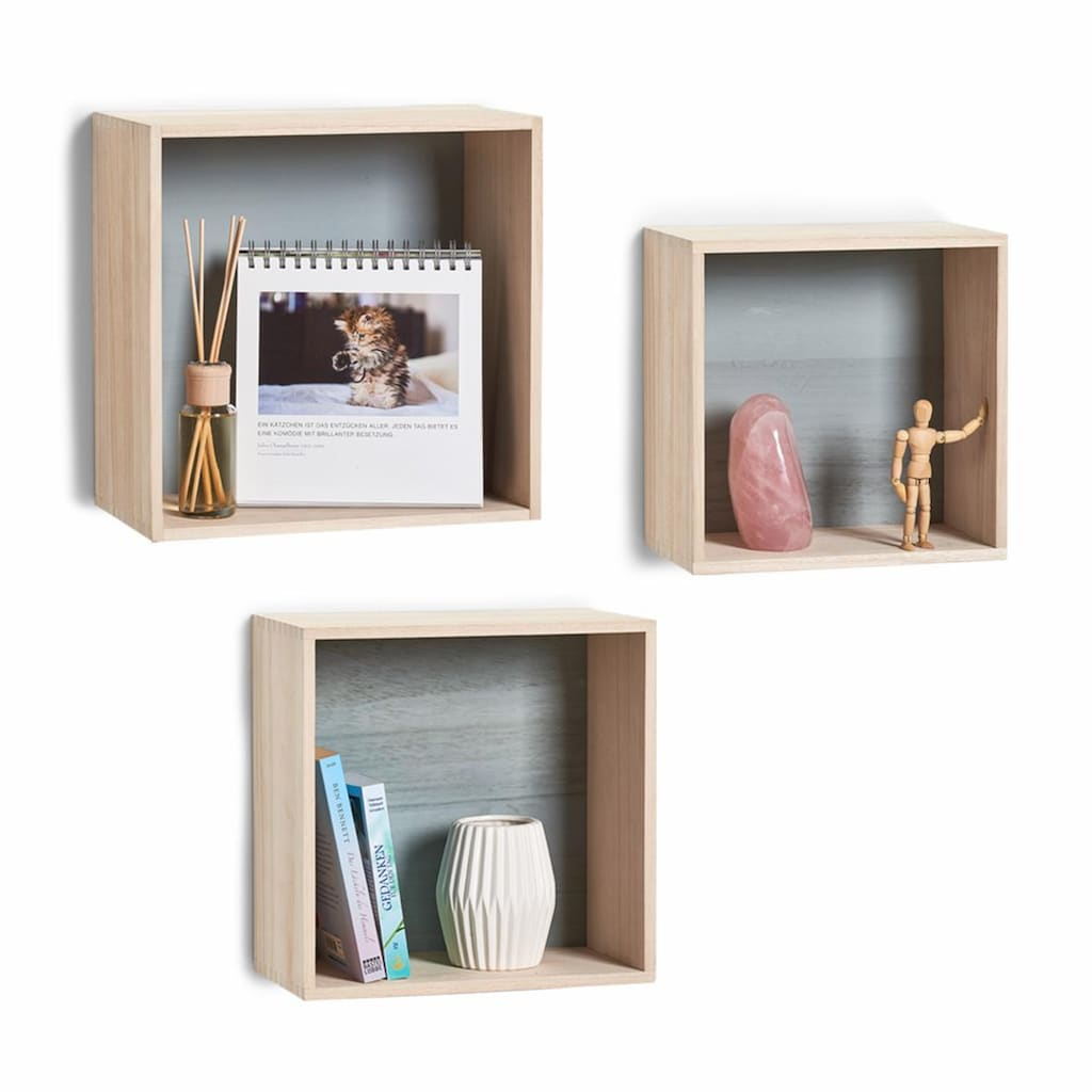 "Zeller Present Regalwürfel ""Cubes"" (Set 3 Teile)"