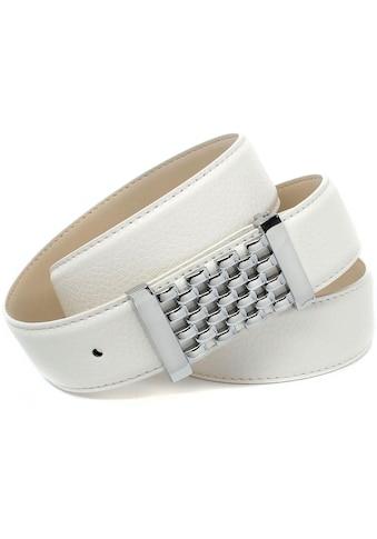 Anthoni Crown Ledergürtel, mit Fashion-Koppelschließe, in Gitter-Optik kaufen