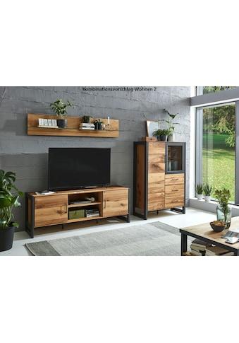 Relita Lowboard »Montana«, mit interessant gemasertem Holzfurnier, Fernsehtisch im Industrial Design kaufen
