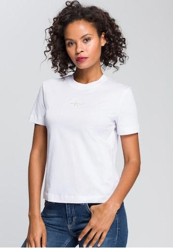 Calvin Klein Jeans Rundhalsshirt »MONOGRAM LOGO TEE«, mit Calvin Klein Jeans Logo-Stickerei Schriftzug & farbiges Monogramm kaufen